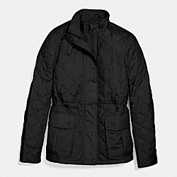 QUILTED JACKET;BLACK;LARGE - BLACK - COACH F86049