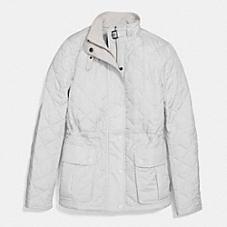 QUILTED JACKET;OYSTER;LARGE - f86049 - OYSTER