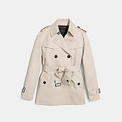 SOLID SHORT TRENCH - PORCELAIN - COACH F86050