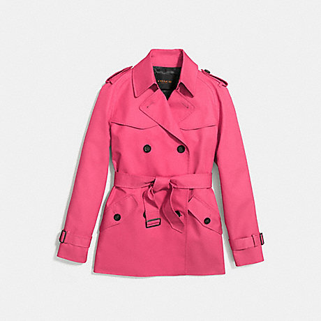 COACH SOLID SHORT TRENCH - STRAWBERRY - f86050