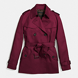 SOLID SHORT TRENCH - f86050 - WINE