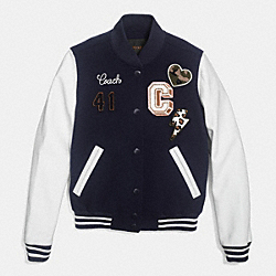 VARSITY C JACKET;MIDNIGHT N;LARGE - f86055 - EEU