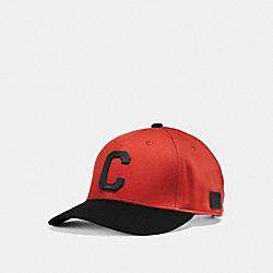 COACH VARSITY C CAP - CARMINE - F86147