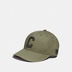 COACH VARSITY C CAP - GREEN - F86147
