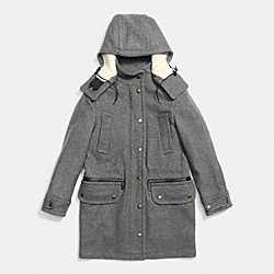 WOOL PARKA - GRAY - COACH F86237
