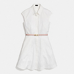 SHIRTDRESS - CHALK - COACH F86278