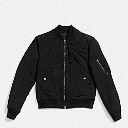 QUILTED MA-1 JACKET - BLACK - COACH F86298
