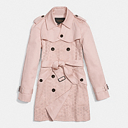 EYELET TRENCH COAT - ORCHID - COACH F86462