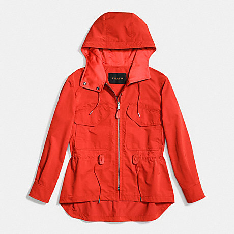 COACH SPORTY ZIP WINDBREAKER - CAYENNE - f86465