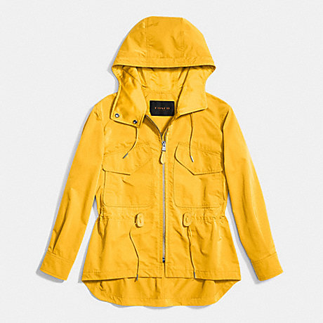 COACH SPORTY ZIP WINDBREAKER - SUNFLOWER - f86465