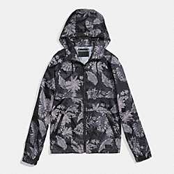 PRINTED WINDBREAKER JACKET - HAWAIIAN PALM - COACH F86474