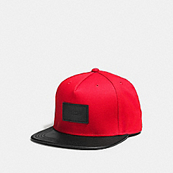 FLAT BRIM HAT IN COLORBLOCK - BRIGHT RED - COACH F86475
