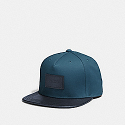 COACH FLAT BRIM HAT IN COLORBLOCK - DENIM/NAVY - F86475