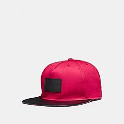 COACH FLAT BRIM HAT IN COLORBLOCK - RED - F86475
