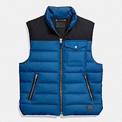 COACH DOWN VEST - DENIM - F86510