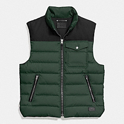 COACH DOWN VEST - PALM - F86510