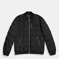 PACKABLE DOWN MA-1 JACKET - BLACK/BLACK FOULARD - COACH F86519