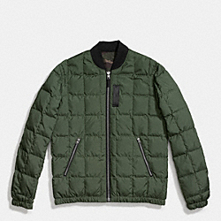 PACKABLE DOWN MA-1 JACKET - PALM/GREEN CAMO - COACH F86519