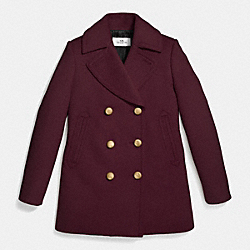 75TH ICON PEACOAT - f86525 - CURRANT
