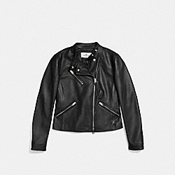 UPTOWN RACER JACKET - BLACK - COACH F86528