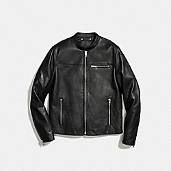 LEATHER MOTO JACKET - f86595 - BLACK
