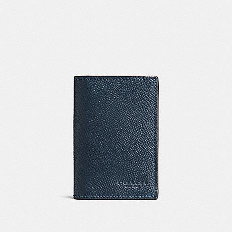 COACH BIFOLD CARD CASE - DARK DENIM - F86763