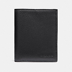 COACH SLIM WALLET IN SPORT CALF LEATHER - BLACK - F86764