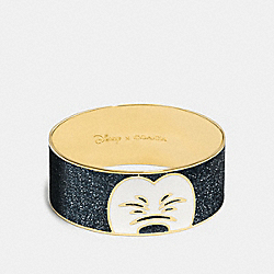 MICKEY SQUINTING ENAMEL BANGLE - f86787 - GOLD/BLACK