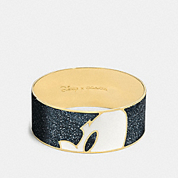 MICKEY PROFILE ENAMEL BANGLE - GOLD/BLACK - COACH F86788