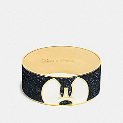 MICKEY PONDEROUS ENAMEL BANGLE - GOLD/BLACK - COACH F86789