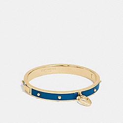 ENAMEL AND RIVETS SIGNATURE C HINGED BANGLE - f86794 - GOLD/MINERAL
