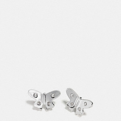 BUTTERFLY STUD EARRINGS - SILVER - COACH F86798