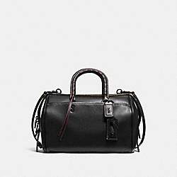 ROGUE SATCHEL WITH EMBELLISHED HANDLE - BLACK/BLACK COPPER - COACH F86918