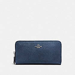 ACCORDION ZIP WALLET - SILVER/METALLIC BLUE - COACH F87071