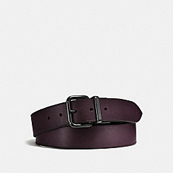JEANS BUCKLE CUT-TO-SIZE REVERSIBLE BELT - OXBLOOD/BLACK - COACH F87091