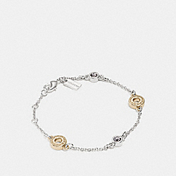 OPEN CIRCLE CHAIN BRACELET - f87130 - SILVER/GOLD