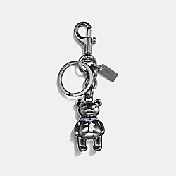 COACH 3D BEAR BAG CHARM - BLACK - F87166