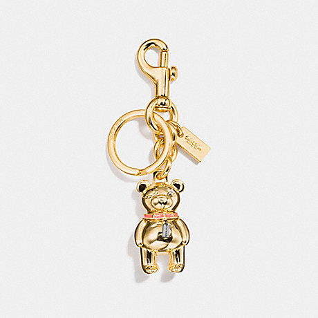 COACH 3D BEAR BAG CHARM - GOLD - F87166