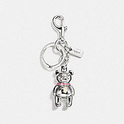3D BEAR BAG CHARM - SILVER - COACH F87166
