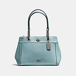 TURNLOCK EDIE CARRYALL - DARK GUNMETAL/CLOUD - COACH F87239
