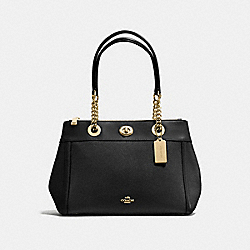 TURNLOCK EDIE CARRYALL - BLACK/LIGHT GOLD - COACH F87239