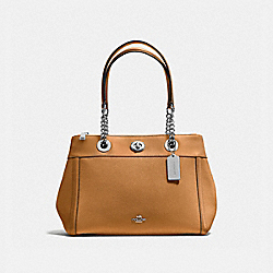 TURNLOCK EDIE CARRYALL - SV/LIGHT SADDLE - COACH F87239