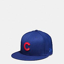 COACH MLB FLAT BRIM HAT - CHI CUBS - F87250