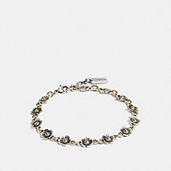 TEA ROSE CHAIN BRACELET - SILVER/GOLD - COACH F87307