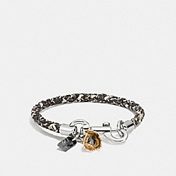 COACH CHARMS SNAKESKIN FRIENDSHIP BRACELET - SNAKE WHITE/SILVER - COACH F87379