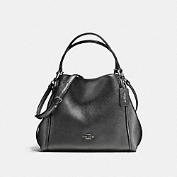 EDIE SHOULDER BAG 28 - SV/METALLIC GRAPHITE - COACH F87400