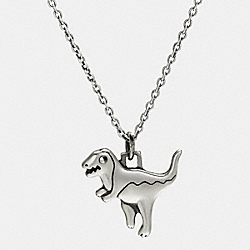 STERLING SILVER 1941 REXY CHARM NECKLACE - SILVER - COACH F87449