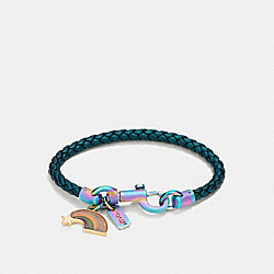 COACH SPACE CHARMS FRIENDSHIP BRACELET - OILSLICK/METALLIC MINERAL - F87453
