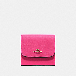 SMALL WALLET - PINK RUBY/GOLD - COACH F87588