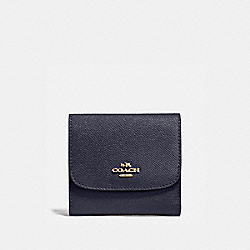 SMALL WALLET - MIDNIGHT/IMITATION GOLD - COACH F87588